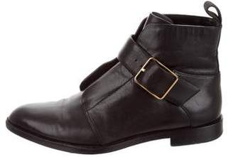 Alexander Wang Pointed-Toe Leather Ankle Boots