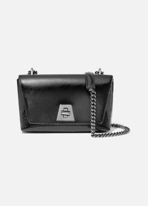 Akris Anouk Small Day Textured Patent-leather Shoulder Bag - Black