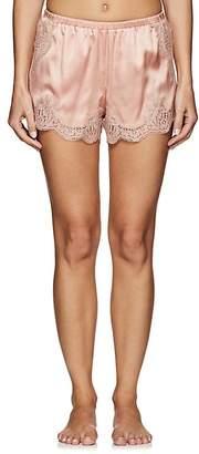 Dolce & Gabbana Women's Lace-Trimmed Silk-Blend Shorts