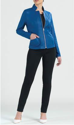 """Clara Sunwoo Soft knit liquid """"leather"""" jacket"""