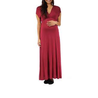 24/7 Comfort Apparel Maxi Dress-Plus Maternity