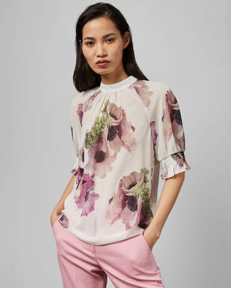 Ted Baker CAYLIEE Neapolitan puff sleeve top