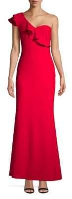 Calvin Klein One-Shoulder Floor-Length Gown