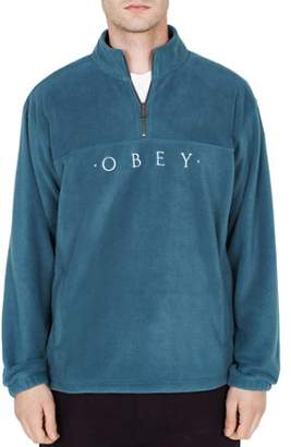 Obey Mountain Quarter-Zip Fleece Sweatshirt