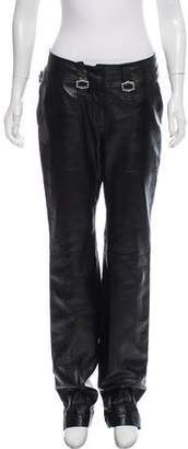 Christian Dior Leather Mid-Rise Pants