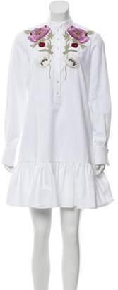 Alexander McQueen Embroidered Mini Dress White Embroidered Mini Dress