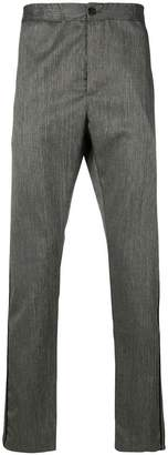 Just Cavalli panelled straight leg trousers