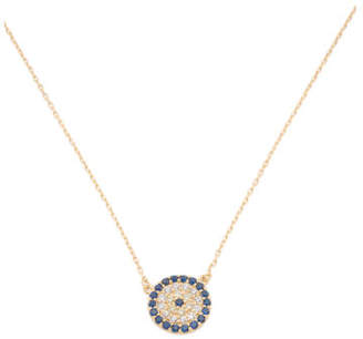 Made In Usa Gold Plate Sterling Silver Evil Eye Necklace