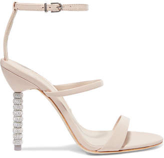 Sophia Webster Rosalind Crystal-embellished Leather Sandals - Off-white