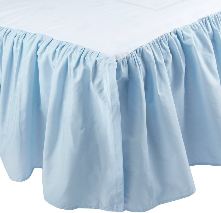 American Baby Company ABC 100% Cotton Percale Dust Ruffle - Blue