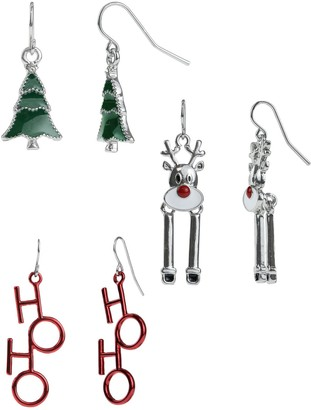 Unbranded Holiday Charm Nickel Free Earring Set
