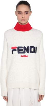 Fendi Fila Oversized Knit Sweater