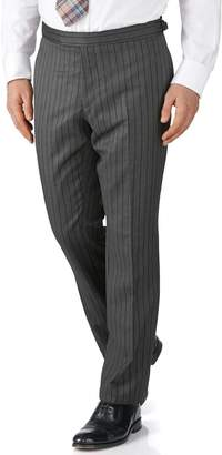 Charles Tyrwhitt Charcoal Stripe Slim Fit Morning Suit Pants Size 42/34