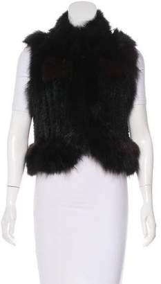 Elizabeth and James Kitted Fur Vest