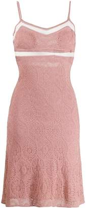 John Galliano Pre-Owned 1990's sheer panels knitted dress