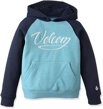 Volcom (ヴォルコム) - (ボルコム) VOLCOM 子供用 スウェットパーカー (プルオーバータイプ) 【 Y4131503/Sentinel Pullover Little Youth 】 Y4131503 STB STB_ブルー SMALL