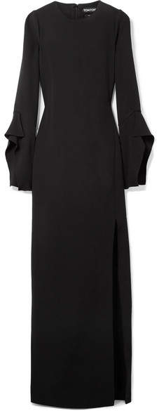 TOM FORD - Silk-crepe Gown - Black