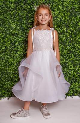 Paige LA PETITE HAYLEY Lilian Lace & Tulle Flower Girl Dress