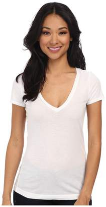 Three Dots Jersey Colette S/S Deep V-Neck Women's T Shirt