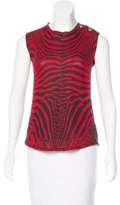 Balmain Printed Sleeveless Top