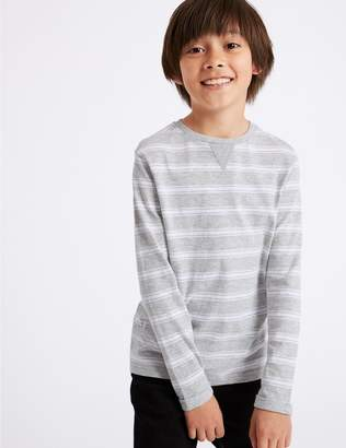 Marks and Spencer Cotton Rich Striped Top (3-16 Years)