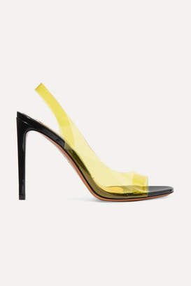 Alexandre Vauthier Amber Ghost Patent-leather And Pvc Sandals - Yellow