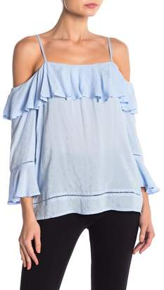 Cynthia Steffe CeCe by Ruffled Cold Shoulder Blouse