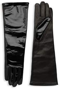 Agnelle Glamour Leather Opera-Length Gloves