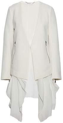 Ashley B. Layered Tweed And Cotton-Gauze Jacket