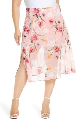 Leith Floral Chiffon Skirt