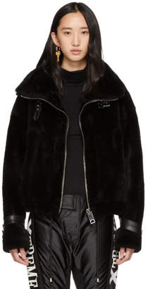 Misbhv Black Shearling Inside-Out Jacket