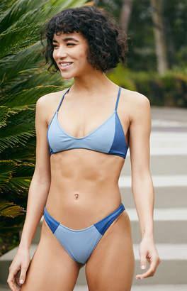 La Hearts Blue Maxwell Racerback Bikini Top