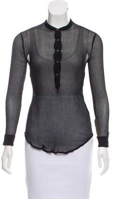 Raquel Allegra Semi-Sheer Silk Top w/ Tags
