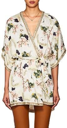 Pandora retrofête Women's Embellished Silk Robe Jacket