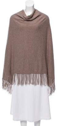 360 Sweater Fringe-Trimmed Cashmere Cape
