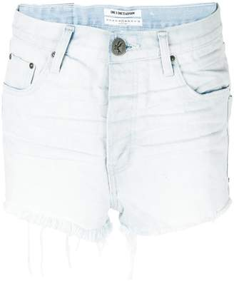 One Teaspoon patchwork pocket denim shorts