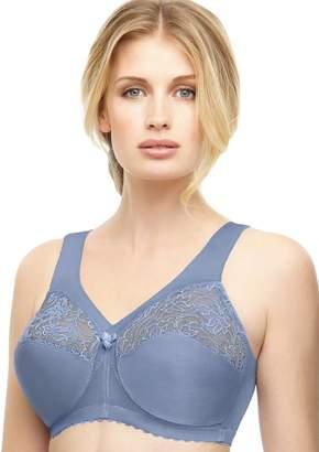 923a3f365b694 Glamorise Bra  Magic Lift Sheer Lace Wire-Free Full-Figure Support Bra 1000