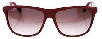 Gucci Gradient Web Sunglasses