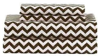 Duck River Textile Casey Chevron 6-Piece King Set - Chocolate