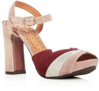 Chie Mihara Women's Candel Suede High Block Heel Platform Sandals - 100% Exclusive