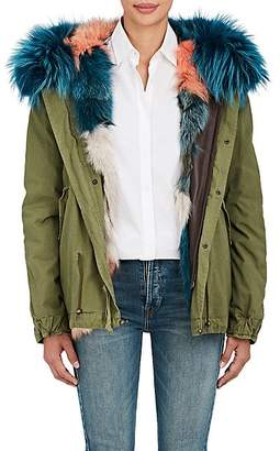 Mr & Mrs Italy Women's Fur-Trimmed & Fur-Lined Mini-Parka - Dk. Green