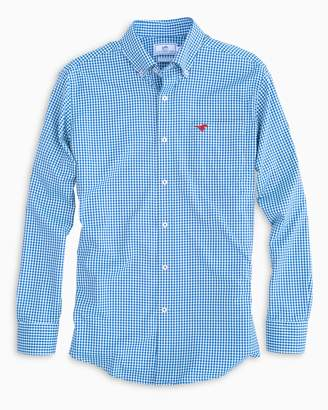 Southern Tide Gameday Gingham Intercoastal Performance Shirt - Southern Methodist University