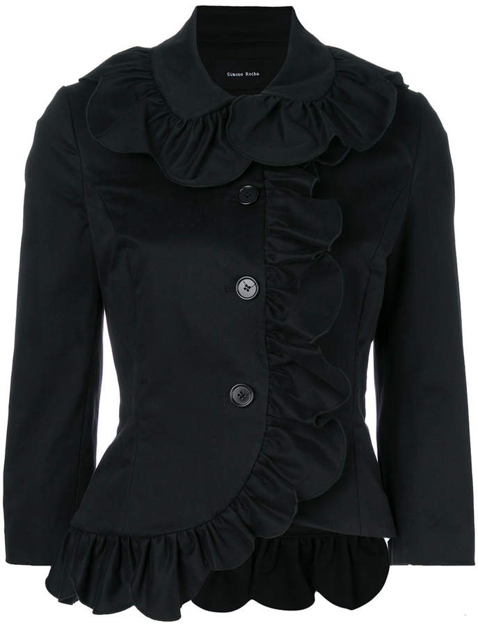 ruffled fitted jacket