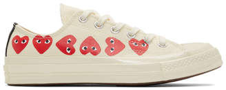 Comme des Garcons Off-White Converse Edition Multiple Heart Chuck 70 Low Sneakers