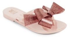 Mini Melissa Kid's Mel Bow Thong Sandals $55 thestylecure.com