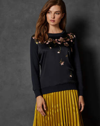 Ted Baker SOWFIEE Arboretum woven front cotton jumper