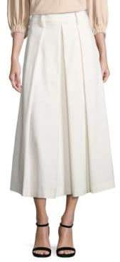 Tibi Agathe Pleated High-Waist Skirt