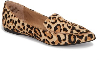Steve Madden Feather-L Genuine Calf Hair Loafer Flat