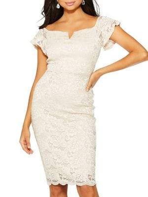 Quiz Off-The-Shoulder Lace Dress