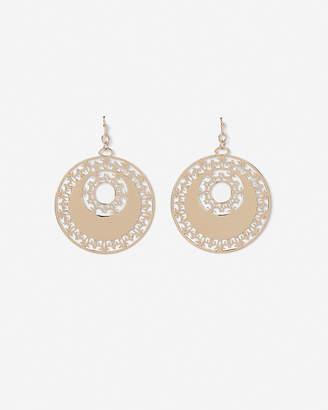 Express Ornate Filigree Circle Drop Earrings